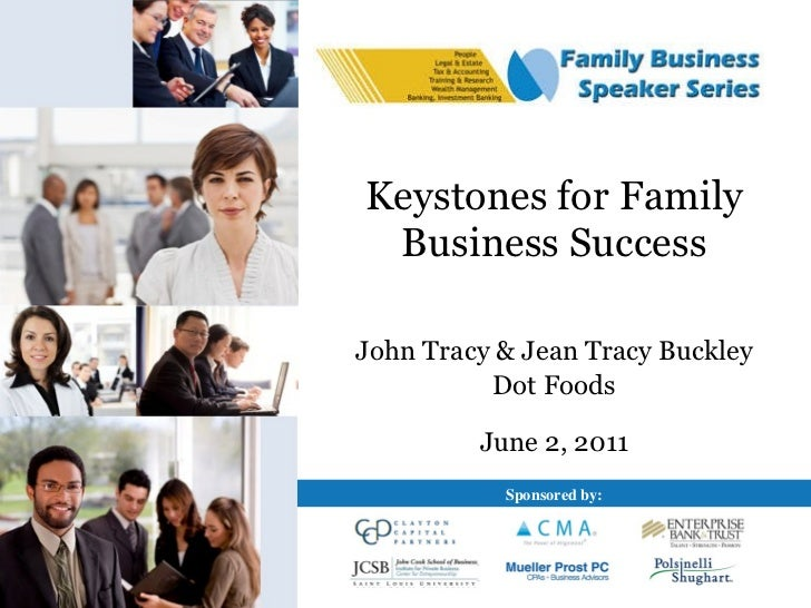 Keystones for Family Business Success John Tracy & Jean Tracy Buckley Dot Foods June 2, 2011 Sponsored by: