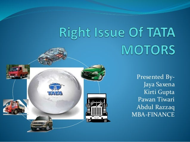 Right Issue Of Tata Motors