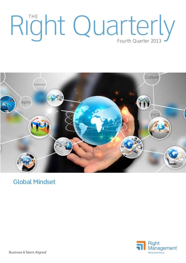 Right Quarterly THE  Fourth Quarter 2013  Culture Collaboration  Agility  VUCA  Global Mindset