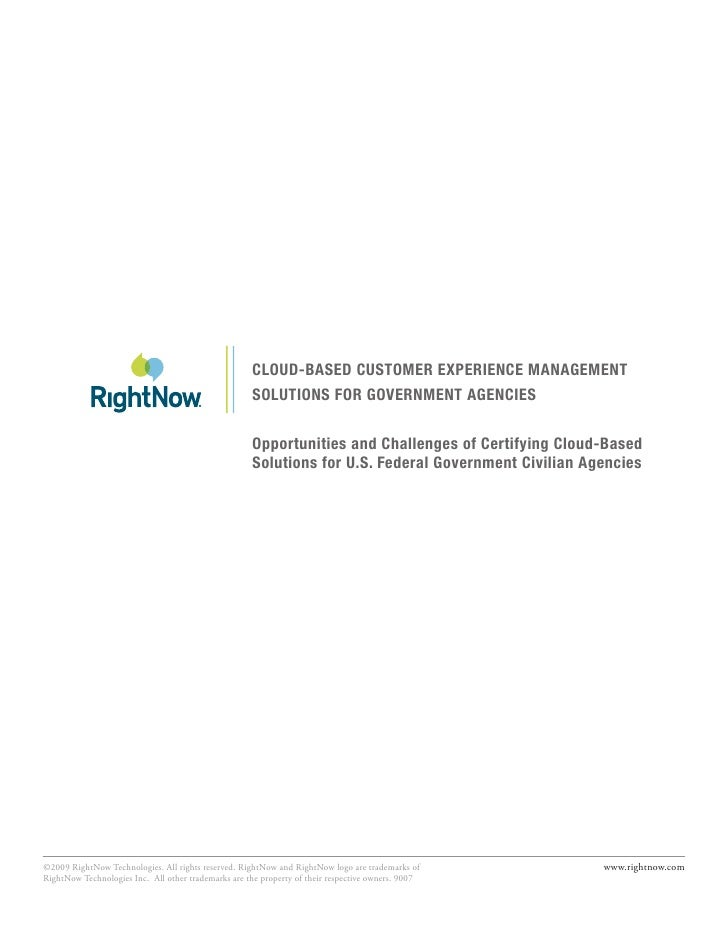 CLOUD-BASED CUSTOMER EXPERIENCE MANAGEMENT                                                      SOLUTIONS FOR GOVERNMENT A...