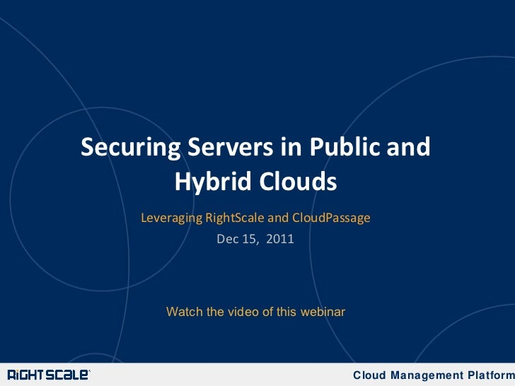 Securing Servers in Public and Hybrid Clouds