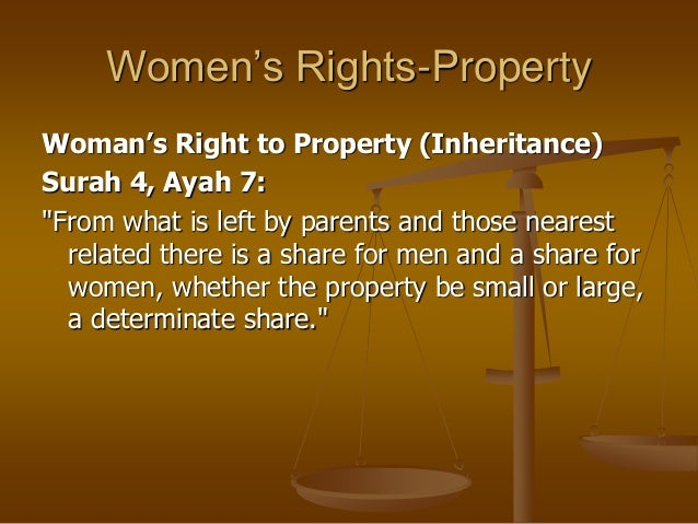 women rights in islam Issue of women, especially during recent times both around the world and especially during recent two decades in afghanistan, has become a very serious concern for scientists, governments and political circles.