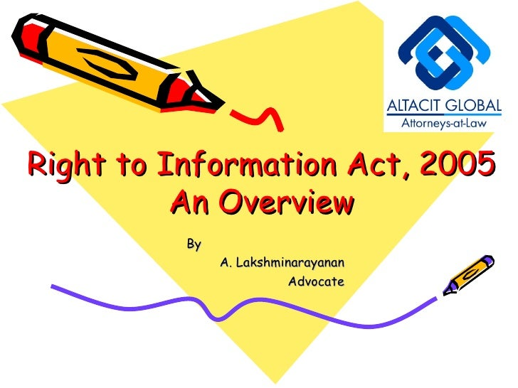 essay on right to information act