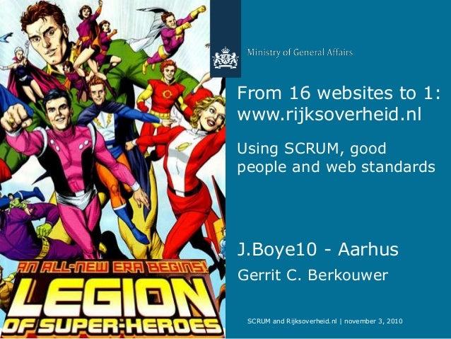 Rijksoverheid.nl and scrum JBoy Aarhus 2010