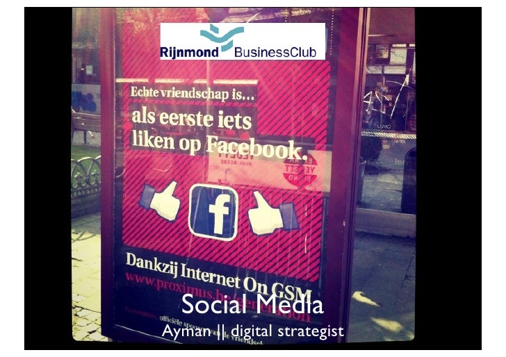 Rijnmond Business Club  Social MediaAyman || digital strategist