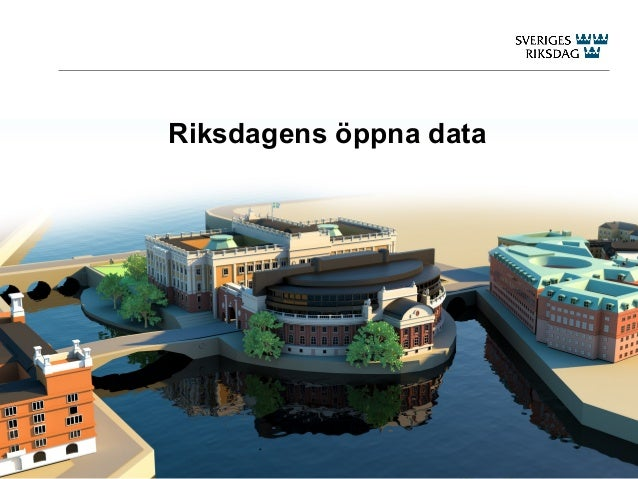Riksdagens öppna data 20130412