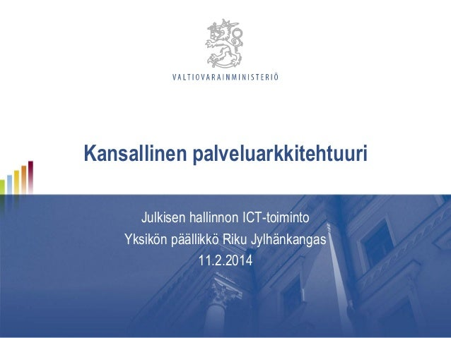 Riku Jylhänkangas, Kansallinen palveluarkkitehtuuri