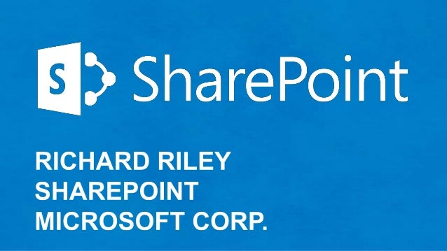 Microsoft Keynote by Richard Riley - SPTechCon
