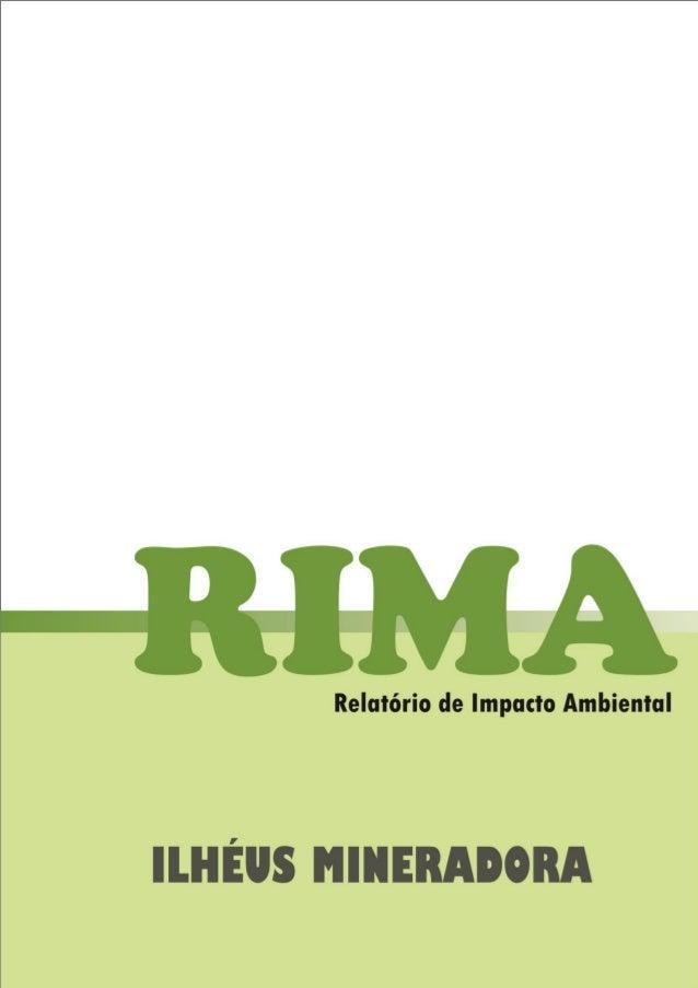 RIMA – ILHÉUS MINERADORA  i