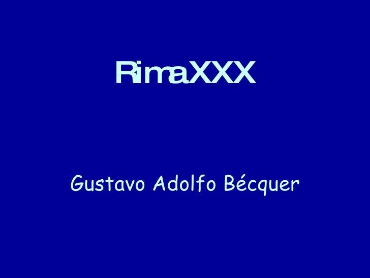 Rima XXX Gustavo Adolfo Bécquer