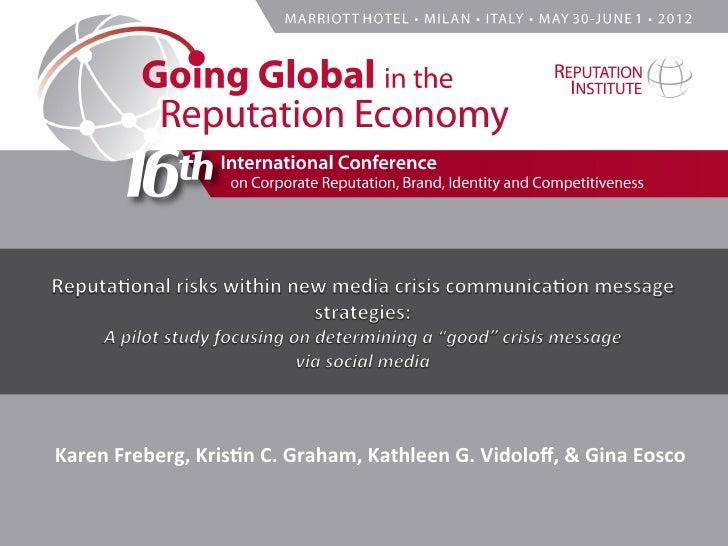 Karen Freberg, Kris-n C. Graham, Kathleen G. Vidoloff, & Gina Eosco