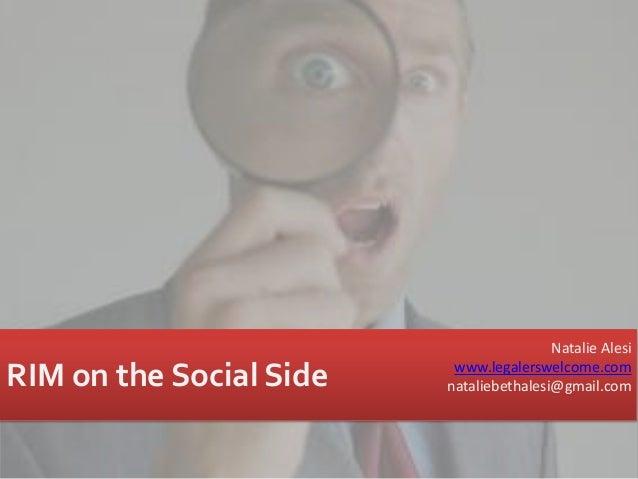 Rim on the social side