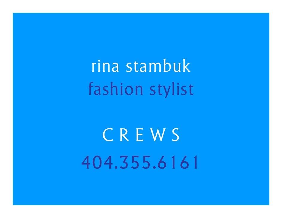 Rina Stambuk Fashion Stylist