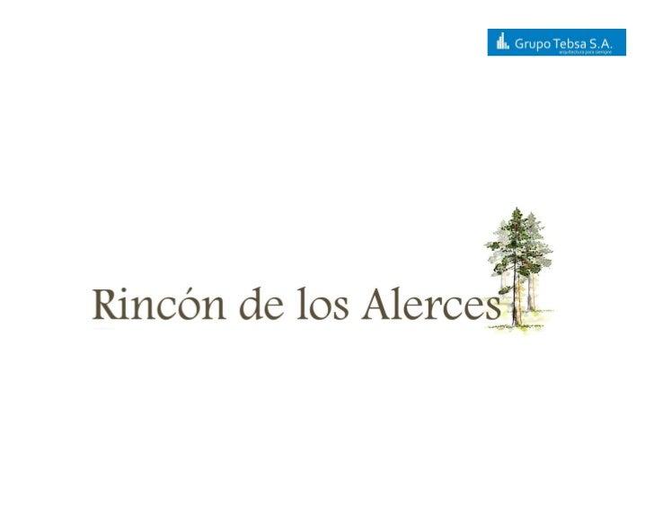 Rinc+¦N De Los Alerces Proyecto