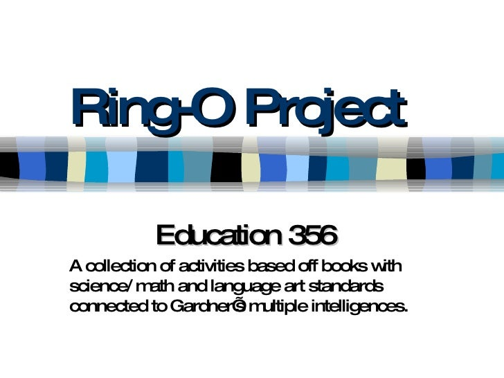Ring-O Project Education 356 A collection of activities based off books with science/ math and language art standards conn...
