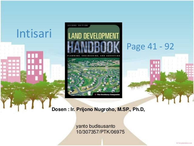 Ringkasan buku land development handbook