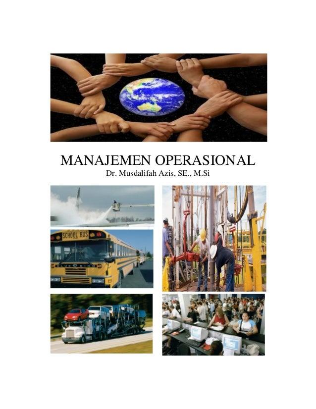 Ringkasan pengajaran manajemen operasional