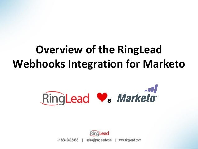 Overview of the RingLead Webhooks Integration for Marketo s