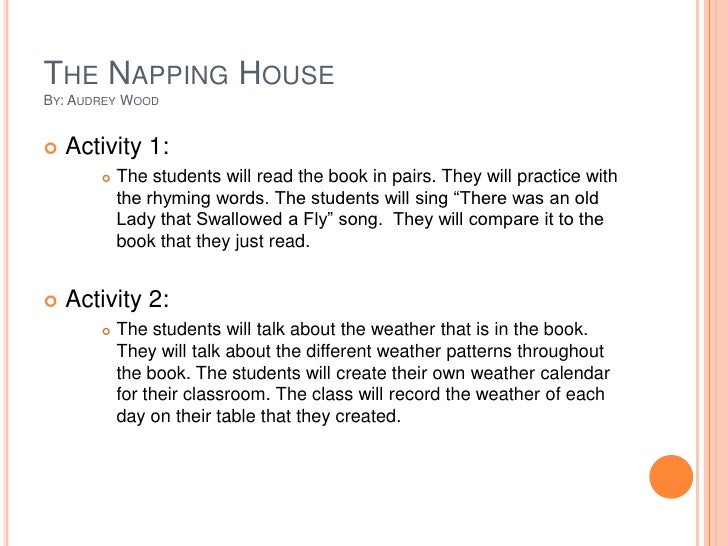The Napping House Lesson Plans Home Design And Style