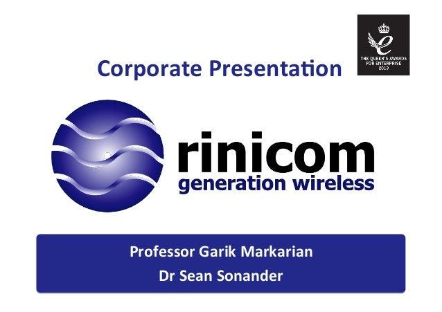 Rinicom presentation