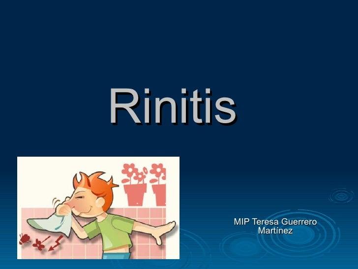 Rinitis  MIP Teresa Guerrero Martínez