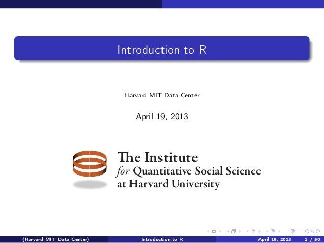 Introduction to the R Statistical Computing Environment