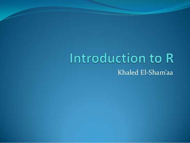 Khaled El-Sham'aa                    1