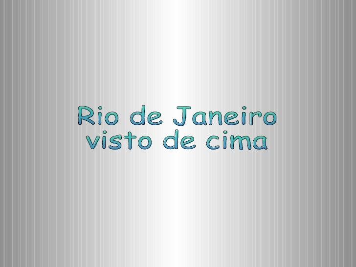 Rio De Janeiro Visto Do Céu