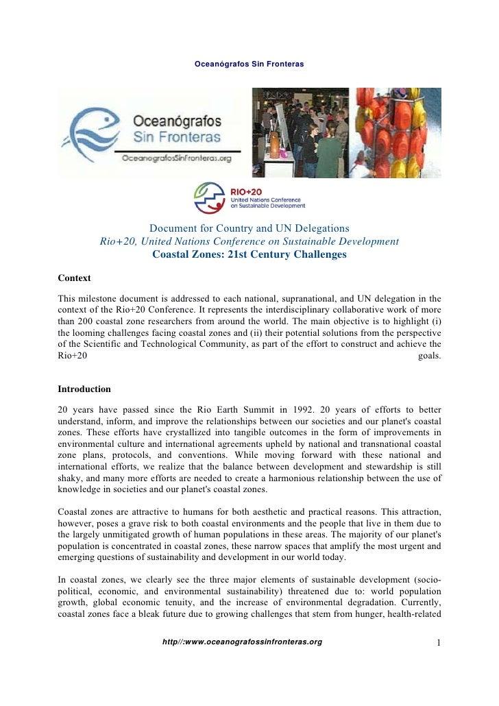 Rio 20 Manejo Integrado Costero