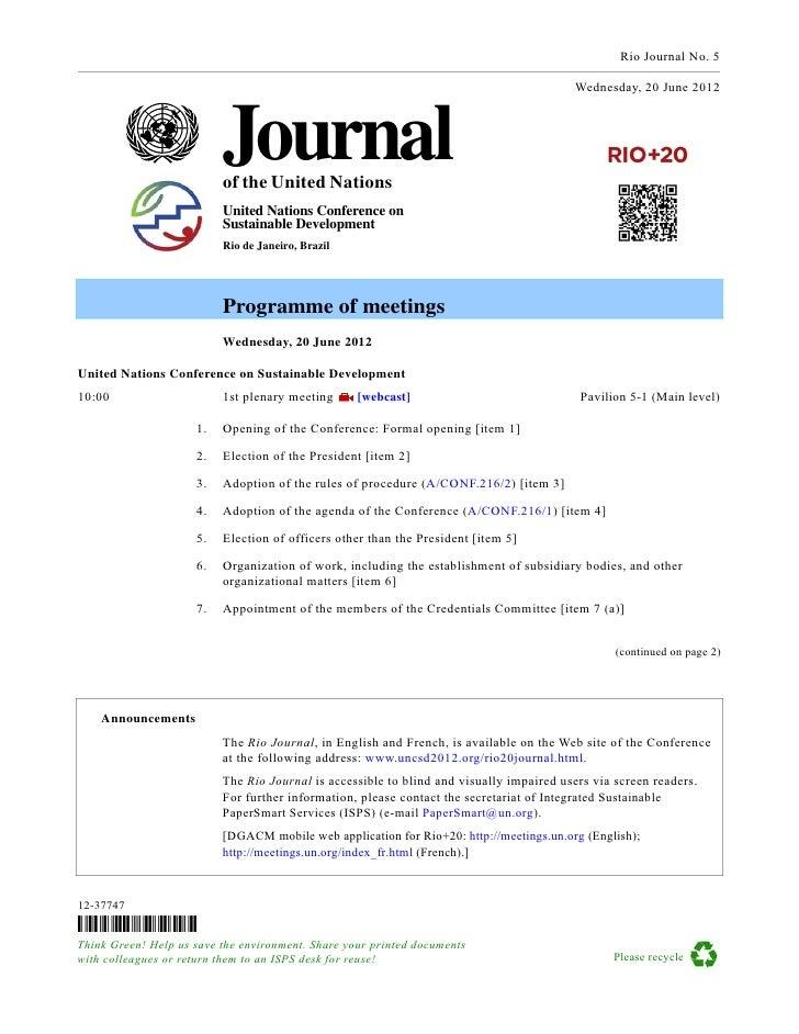 Rio+20 Journal- 20 June
