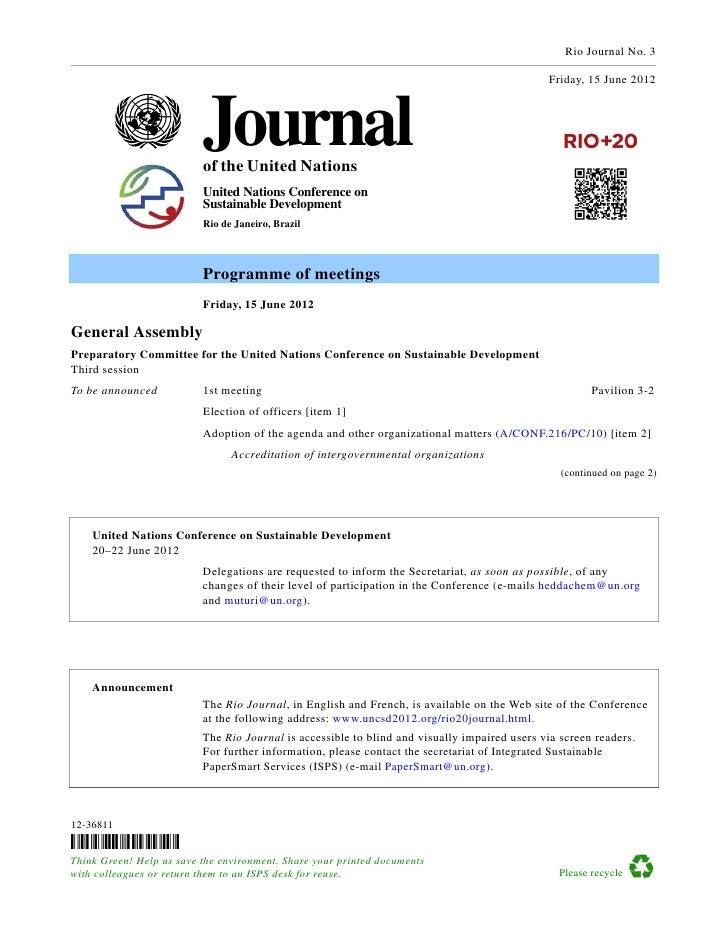 Rio+20 Journal- 15 June
