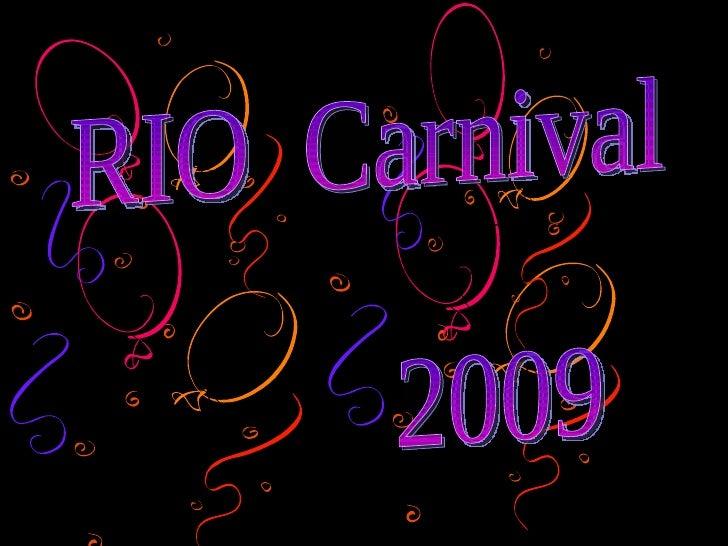 Rio Carnival 2009 New