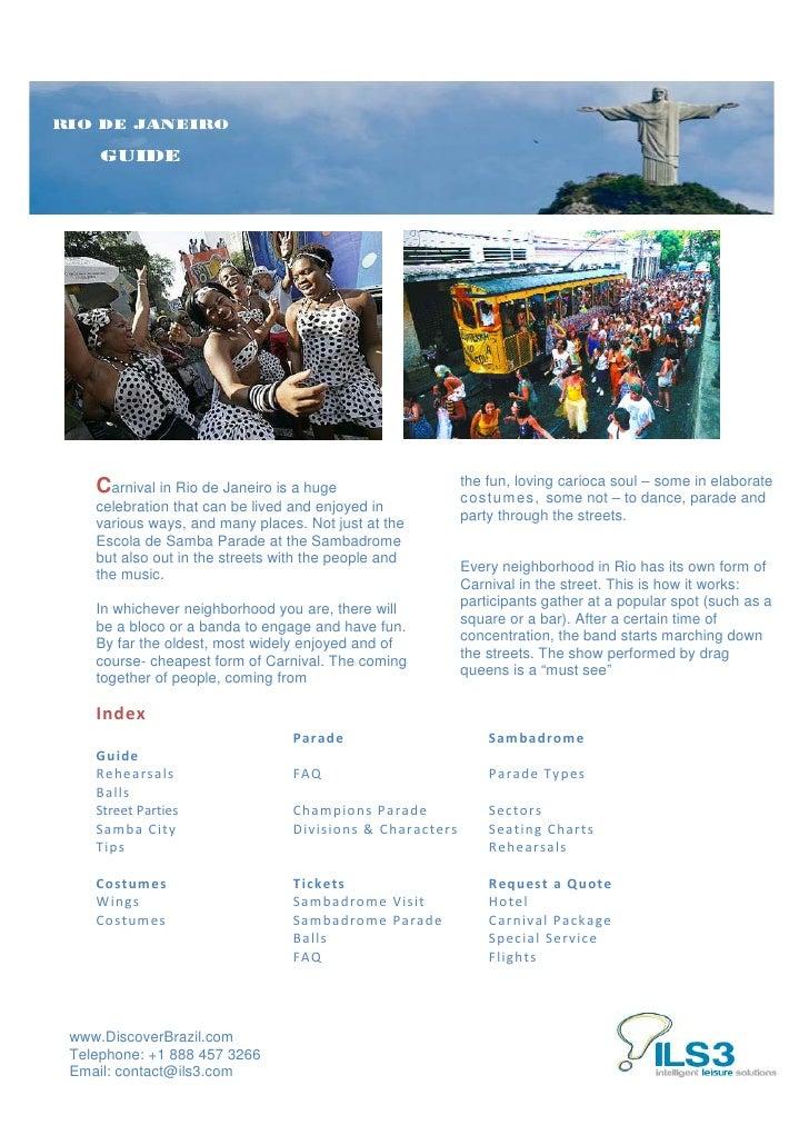 Rio de aneiro brazil carnival 2011 guide   discover brazil