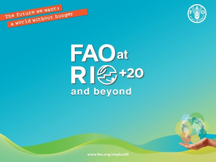 FAO at RIO+20 and beyond