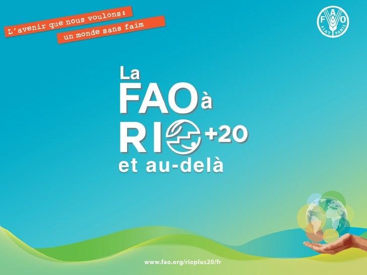 La FAO à RIO+20 et au-delà
