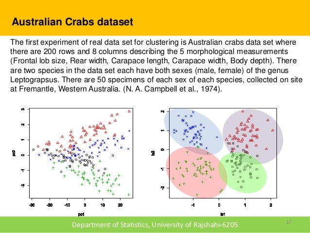 R Crabs Dataset Australian Crabs dataset The