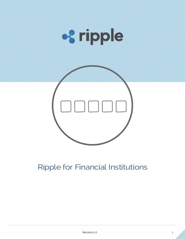 Ripple for Financial Institutions