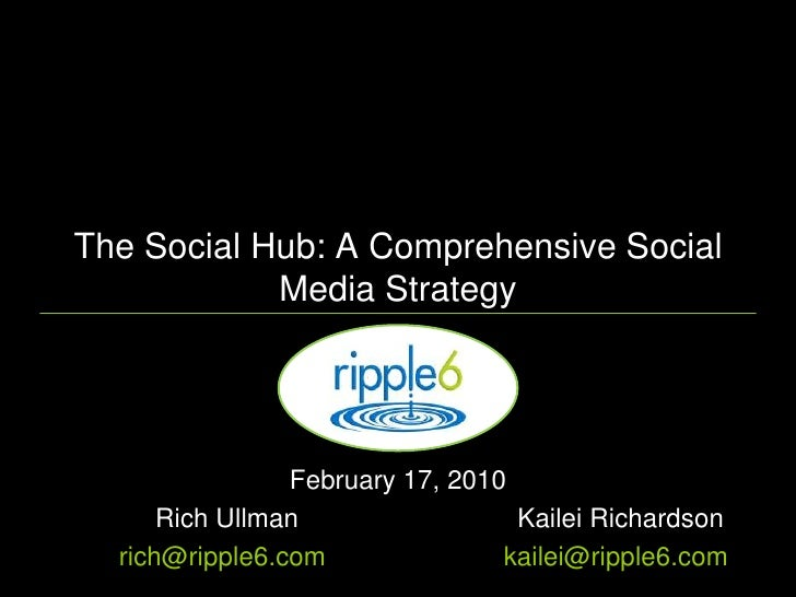 You have Twitter and Facebook, but do you have a Comprehensive Social Strategy?