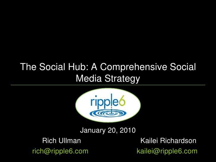 The Social Hub: A Comprehensive Social Media Strategy<br />January 20, 2010 <br />Rich UllmanKailei Richardson<br />ric...
