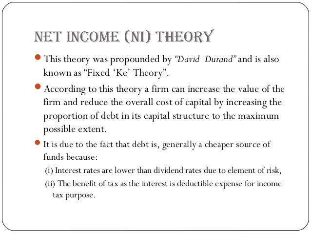 a review of capital structure theories Purpose of this study is to review various capital structure  starting from the  capital structure irrelevance theory of modigliani and miller (1958).