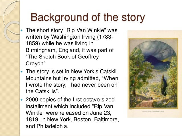 rip van winkle essay title Rip van winkle: an allegory of the american revolution cao yu rip van winkle is a short story by american author washington irving published in 1819.