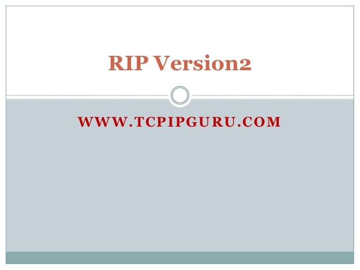 How to configure Rip version2 on a Cisco router