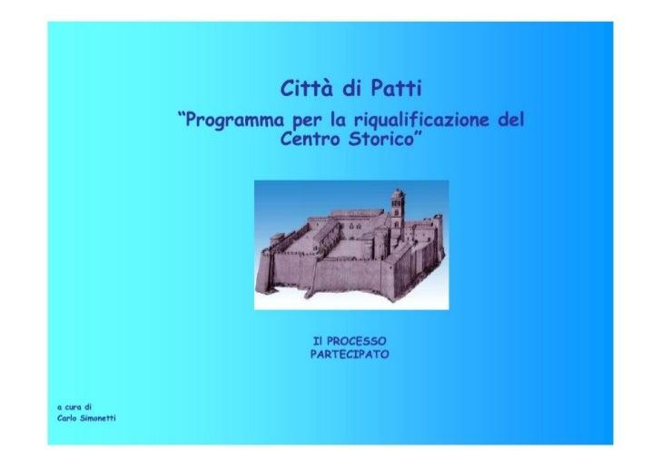Riqualificazione Centro Storico di Patti