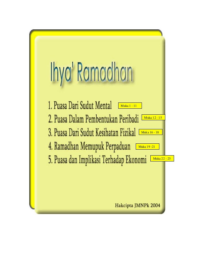 Muka 1 - 11 Muka 12 - 15  Muka 16 - 18  Muka 19 -21 Muka 22 - 25