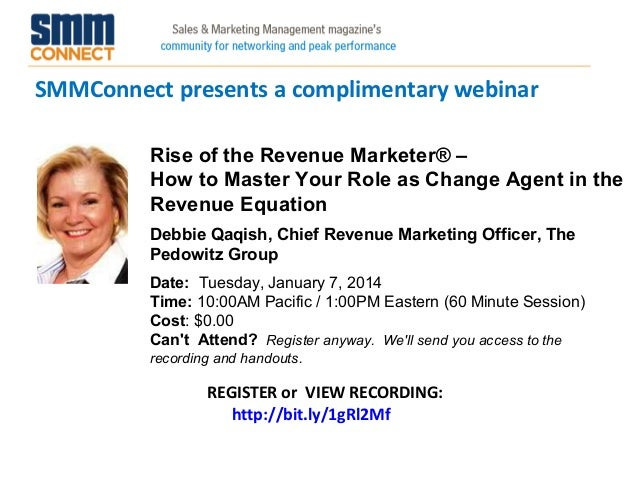 Rise of the Revenue Marketer® – How to Master Your Role as Change Agent in the Revenue Equation