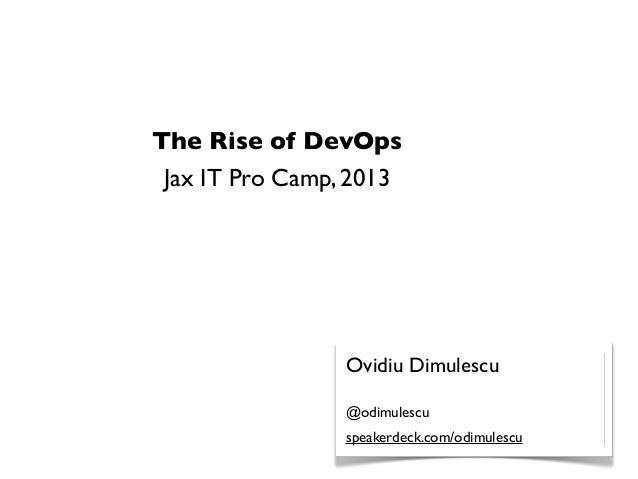 The Rise of DevOps