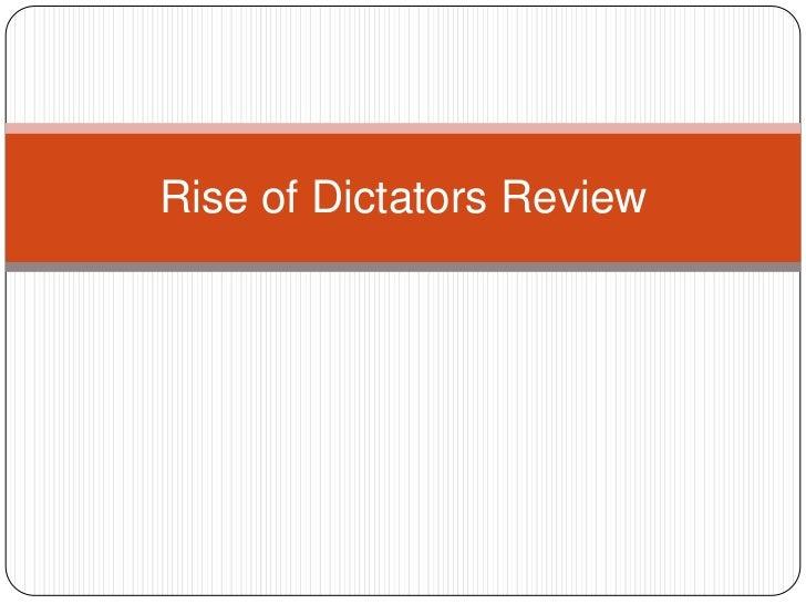 Rise of dictators review