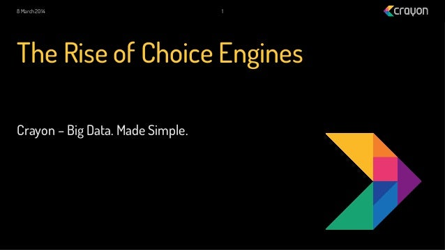 8 March 2014  1  The Rise of Choice Engines Crayon – Big Data. Made Simple.