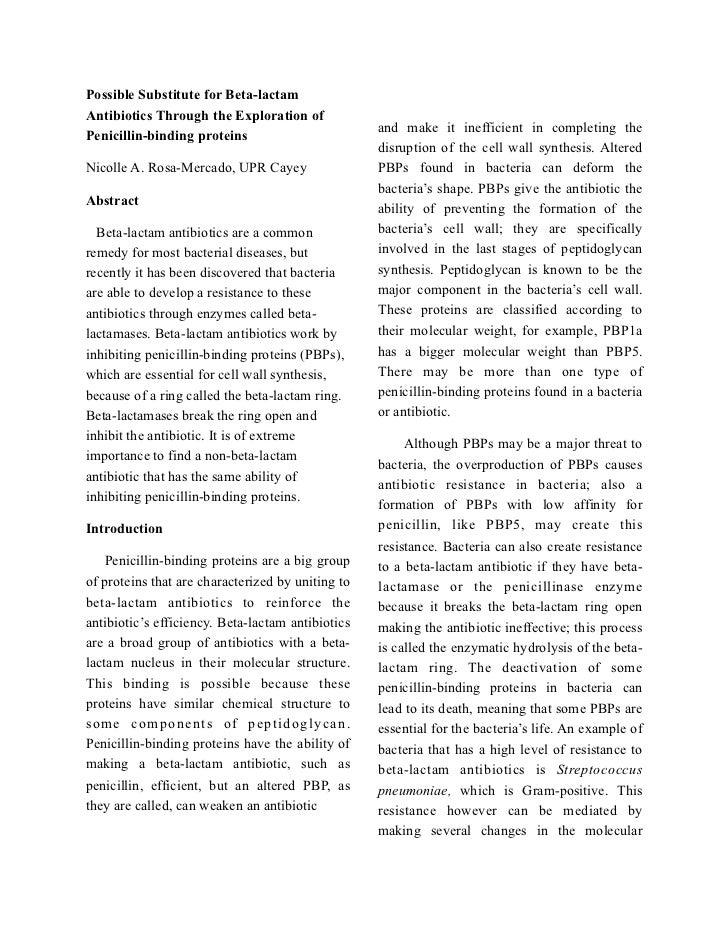 Possible Substitute for Beta-lactamAntibiotics Through the Exploration of                                                 ...