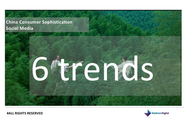 6 trends of China social media and consumer insights